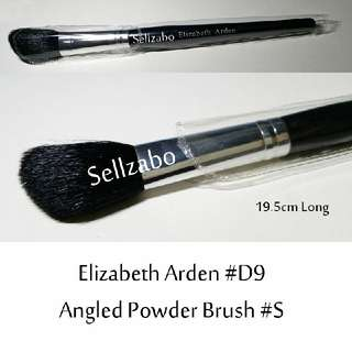 Brush : 19.5cm : Elizabeth Arden : Brushes : Angled : Powder : Big : Black : Applicators : Cheeks : Blush : Blushers : Highlights : Bronzers : Face : Facial : Makeup : Cosmetics : Beauty : Tools : D9