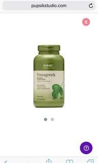 GNC herbal plus whole herb fenugreek (200 capsules) - exp 03/21