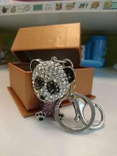 熊貓造型閃石匙扣 (連盒)