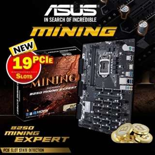 Asus B250 Miniing Mother Board + Intel Pentium G4400 Processor (Brand New)