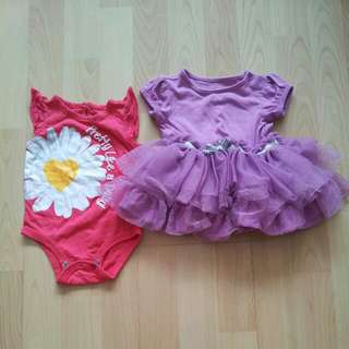 Preloved Baby Girl romper and dress