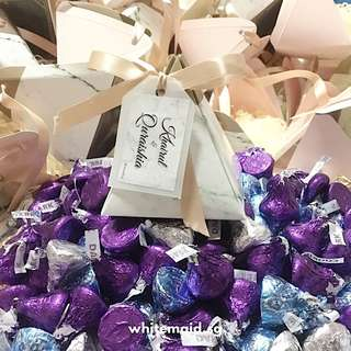 PO Hershey Kisses Filled In Pyramid Marble Box