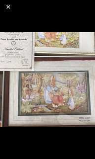 Peter rabbit decoupage, Scotland, limited edition