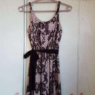 Black & White Maxi Dress (Preloved)