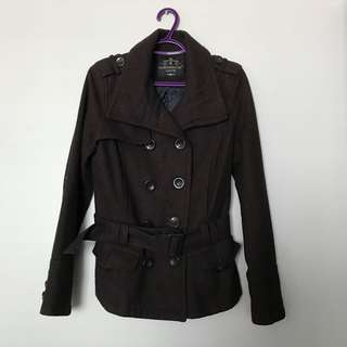 Clockhouse brown peacoat