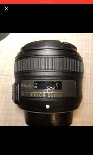 🚚 nikon 50 mm f1.8 G