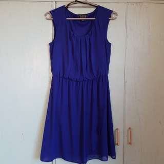 Royal Blue Crepe Dress (Preloved)