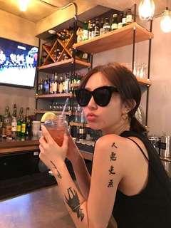 (黑)美伢同款 墨鏡 歐美墨鏡  太陽眼鏡 渡假必備