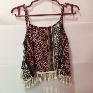 JEWELS TASSEL CROP TOP