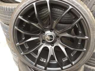 """Used 19"""" bregton rims and new tyre"""