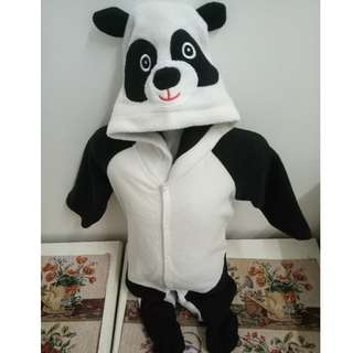 CUTE PANDA BABY HOODED ROMPERS