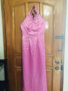 Preloved Pink Long Gown - fits small to medium; worn once only