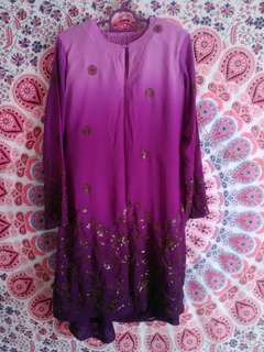 Baju Kurung Moden with Sequin (Tailor Made)