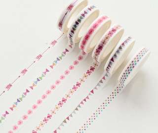 Love of floral decorative slim Washi Tape
