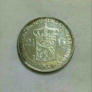 Koin 2,5 gulden 1933