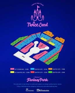 Twice tickets PEN B