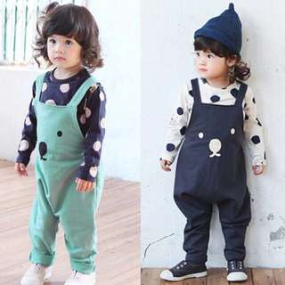 Instock - bear jumpsuit, baby infant toddler girl boy children cute chubby 123456789 lalalala