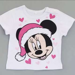 brand new minnie mouse top short sleeve shirt with hat and hearts baby toddler children kids