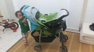 PRELOVED Baby Stroller + Baby Car Seat