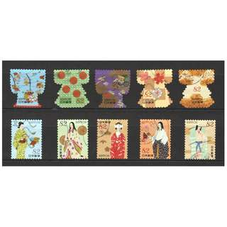 JAPAN 2017 KIMONO WORLD OF JAPANESE TRADITIONAL CULTURE COMP. SET OF 7 STAMPS IN FINE USED CONDITION