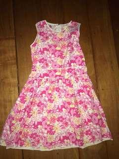 Rustan's 6y Pink Floral Dainty Dress