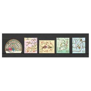 JAPAN 2017 TRADITIONAL DESIGN SERIES 3 (BIRDS MOTIFS) 82 YEN COMP. SET OF 5 STAMPS IN FINE USED CONDITION