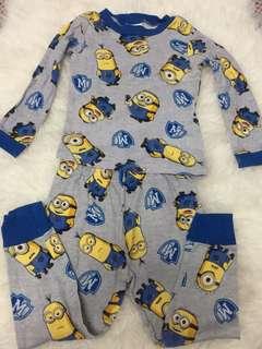 Pajama set minion 3-4y