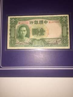 China Republic 1 Yuan Year 1936, Circulated