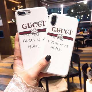 (PO) My Real Gucci Is At Home Luxury Brand Inspired Hard Shell iPhone Casing