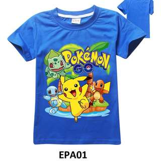 pokemon 2-6 yrs old t shirt short sleeve baby toddler children kids boys cotton material comfortable