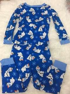 Pajama set olaf 3-4y