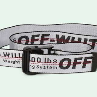 WTB white off-white belt