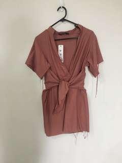 BNWT linen style mini dress