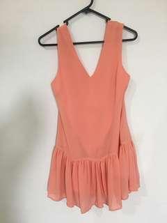 Peach Shift Dress