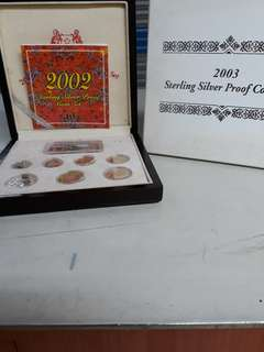 Sterling proof silver coins set