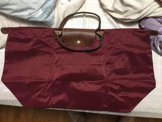Longchamp Maroon colour Bag size L