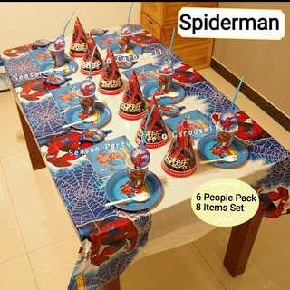 (PO) Spiderman Dec Theme / Kids Birthday Party Theme / Children's Day Theme / Cartoon Design Theme / Christmas Day Theme