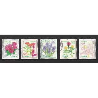 JAPAN 2016 'OMOTENASHI' (HOSPITALITY) FLOWERS SERIES 6 82 YEN COMP. SET OF 6 STAMPS IN FINE USED CONDITION