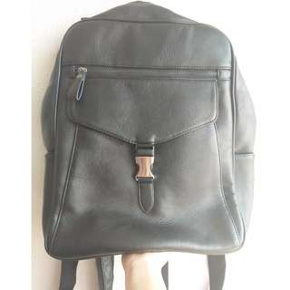 Salvatore Mann Black Backpack
