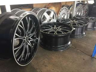 "Japan BADX 19"" X 8JJ 9JJ offset 38 Rim for Estima, Vellfire, Alphard, Oddessy and more"