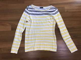 Blue and yellow stripes Gap long sleeves