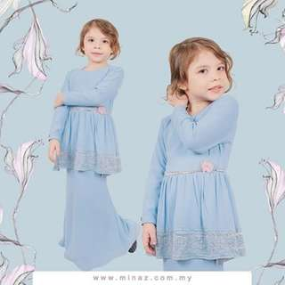 MINAZ ISABELLE LACEY BLUE FOR KIDS