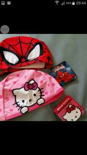free mail: Spider-Man Swimming caps 3 to 4 yr old (HK sold out)