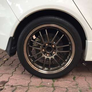 Rays Re30 hyperbronze 18inch rims for sale