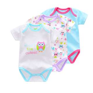 3-piece Cool Animal Printed Baby Romper Suit