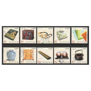 JAPAN 2016 TRADITIONAL CRAFT SERIES NO. 5 COMP. SET OF 10 STAMPS IN FINE USED CONDITION