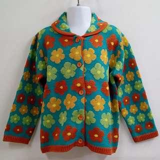 ORANGE REPUBLIC KIDS繽紛花漾搶眼設計質感舒適針織外套全新含吊牌原價1880元童號9號韓國製造韓國品牌