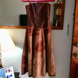 Bronze Brown Prom Gown