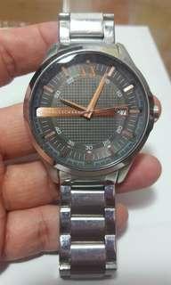 Armani Exchange metal strap watch