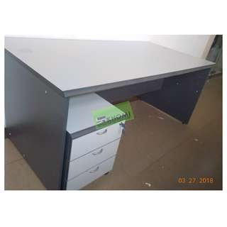 SERIES SET EXECUTIVE TABLE W MOBILE PED SIDE CABINET LG